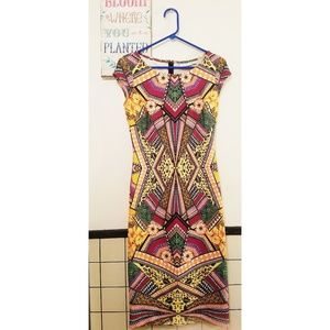 Newyork&company Tribal Print Sheath Dress